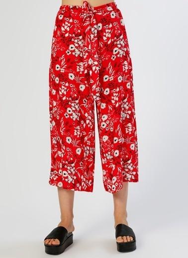 Koton Çiçekli Pantolon Kırmızı